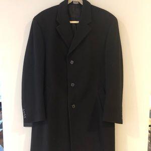 Men's Long 100% Wool Dress Coat. Joseph A Bank